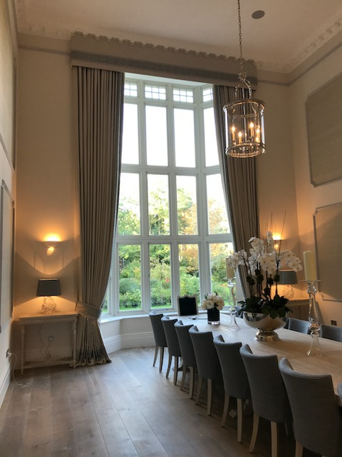 Finished-bespoke-hand-made-curtains-for-dining-room-in-Ascot-Berkshire